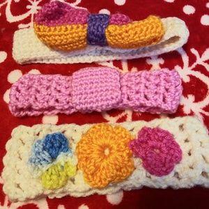 3 Little Girls Handmade Headbands